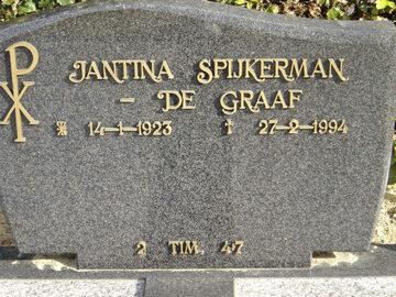 Graf van Jantina de Graaf (1923-1994)