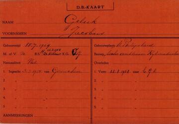 Persoonskaart Jacobus Geluk