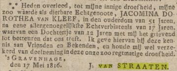 Afbeelding bij Joannes (Jan)  van Straaten