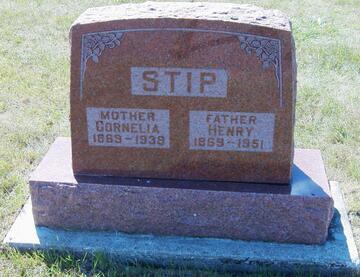 Graf - Riverview Cemetery (Rock Rapids-Iowa-USA)Cornelia van den Born en Hendrik (Henry) Stip