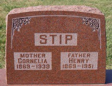 Graf - Riverview Cemetery (Rock Rapids-Iowa-USA) Cornelia van den Born en Hendrik (Henry) Stip