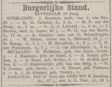 1860-06-20 C van den Berg (ev Sundermeijer)-Zn_Rotterdamsche Courant_p003 (Gerardus Cornelis Sundermeijer)
