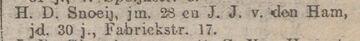 1907-10-10 HD Snoeij-JJ vden Ham_Rotterdamsch Nieuwsblad_p005 (Jansje Johanna van den Ham)