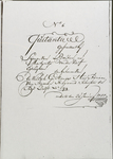 Notaris Gerard Camper de Jonghe, 20 jan 1757 blz 1. (Martijntje Jansdr. van der Kerff)