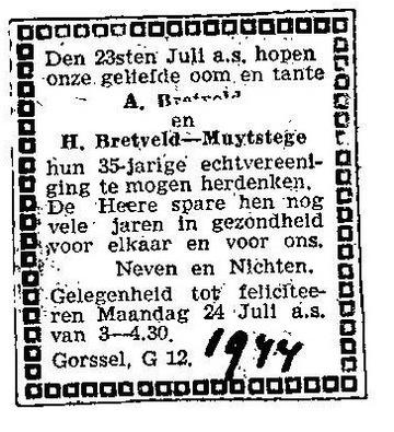 19440723 BRETVELD MUIJSTEGE JUBILEUM (Hendrika Muijtstege)