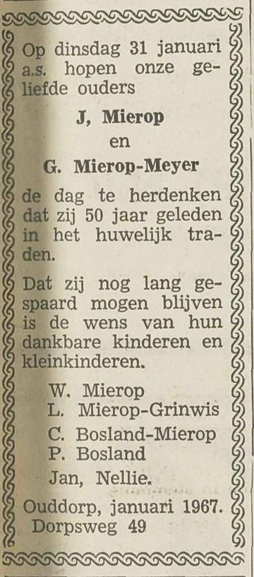 19670131 MIEROP MEIJER JUBILEUM (Grietje Meijer)