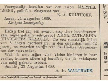 Abbildung bei Anna Catharina Charlotta Klaasen