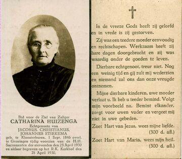 Abbildung bei Catharina(Trijntje) Huizinga