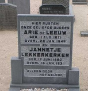 Afbeelding bij Jannetje  Lekkerkerker
