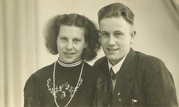 Verloving - maart 1947Grietje Schrik en Derk Smit