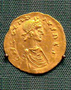 Afbeelding bij Chlotharius II de Merovinger, koning  der Franken en Neustrië en Aquitanië