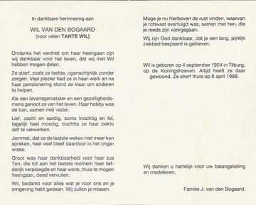 Wil van den Bogaard
